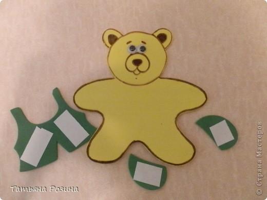 Всем здравствуйте!!!! Хочу показать вот таких медведей, которых изготовили с воспитанницей  за 4 занятия, так как она еще 3-х летка... На этих фигурках закрепляли понятия: теругольник, квадрат, круг и последний мишка был, так сказать, без определенной цели (цветочки ему вручили). Идею увидела случайно в магазине и быстро ее  реализовала, а было дело так.... фото 3