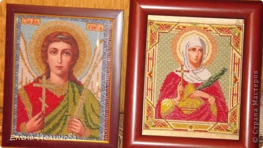 1.Иконы из бисера.2.Святой Ангел Хранитель.3.Святая Татьяна.  Вышила за 3 недели.Отправляю иконы в Харьков и Курскую...