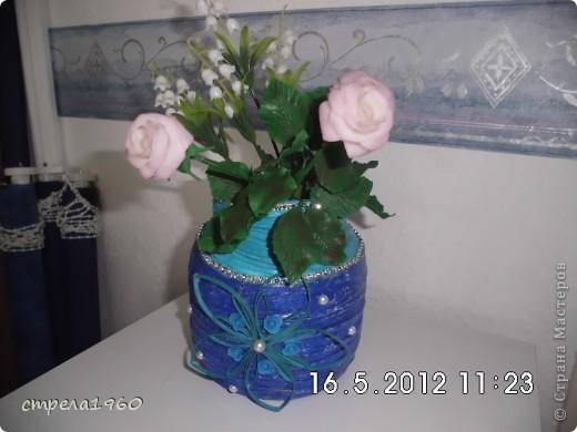 мои первые розы из хф.собралась дома пустая тара и вот что получилось фото 2