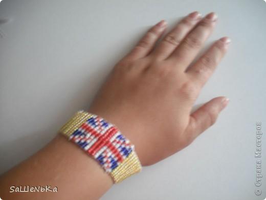 Браслет с британским флагом. фото 1