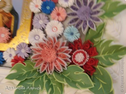"""Икона Божией Матери """" Неувядаемый цвет"""" помогает в выборе супруга(супруги) Училась технике Квиллинг. Просто влюбилась в бумагокручение. Решила украсить икону первыми своими цветочками выполненными в этой технике... фото 3"""
