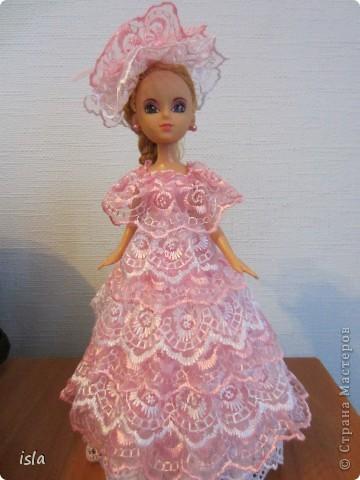 """Всем привет! Это опять я со своей очередной куклой. Вот такая у меня """"родилась"""" на этот раз куколка-шкатулка. Получилась она вся такая розовенькая, в рушечках-кружавчиках... Мне она напоминает бело-розовый зефир. фото 5"""