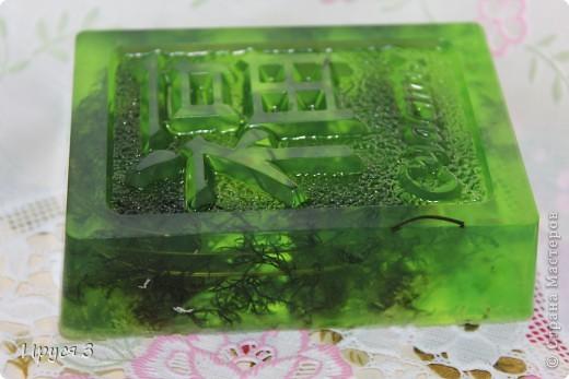 Мыльце сварила из основы , добавила хлопковое масло и ментол -))) фото 3