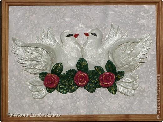 Здравствуйте, уважаемые мастерицы. Наконец то нашла время выложить свои работы. Большое спасибо за мастерство Марине Архиповой, Ольге RODI, за голубей огромное спасибо  Эле2412, я их подарила на свадьбу. Жених с невестой были очень довольны.  фото 1