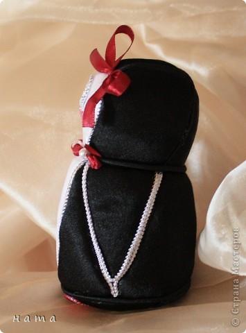 Полюбуйтесь на нас!  Вот такая смастерилась-родилась  Девочка - Пингвиночка, очаровательная кокетка и модница...   фото 3