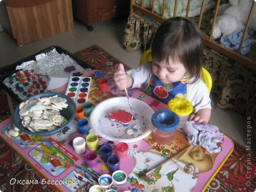 Здравствуйте соседи страны Мастеров. Представляю Вашему вниманию продолжение работ с дочерью за пол года. Снеговик. фото 9