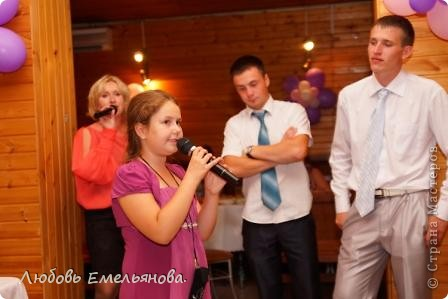 Хочу поделиться радостным событием в нашей семье- женился мой брат. Я как могла помогала в подготовке и проведении свадьбы. Ребята оказали мне большую честь - предложили  вести их свадьбу, я согласилась, понимая всю ответственность, которую на себя взяла. Но всё вышло интересно и весело. фото 17