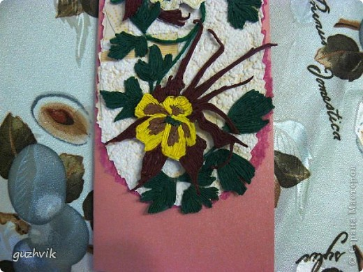 Добрый вечер Всем из Одессы!!! К Вам с порцией хорошего настроения. Это мои открыточки. Очень долго крутила цветочки, мостила их, думала сделать букет. Но увы!!! Не получился, но получились открыточки. Все цветочки на проволочках - посмотрите как интересно они смотрятся! фото 14