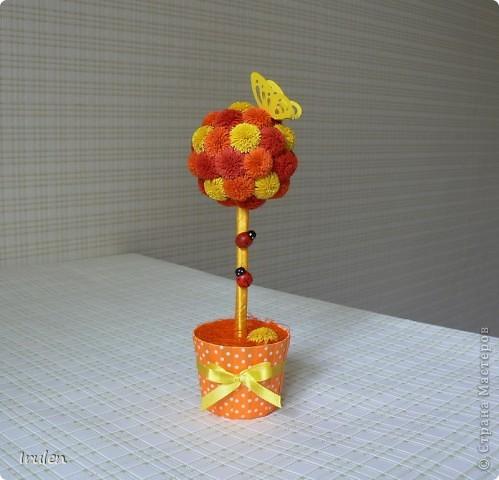 Делала такое деревце маленькое (http://stranamasterov.ru/node/300947?t=472), очень оно нравится многим :), заказали побольше, вот что получилось :)  Есть такое же в оранжевых тонах (http://stranamasterov.ru/node/391437?t=472) фото 5