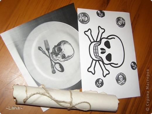 Так как День рождения сынули я решила провести в  пиратском стиле,то и торт был соответствующим Сундук с сокровищами старого пирата и древнее послание для юных пиратов фото 6