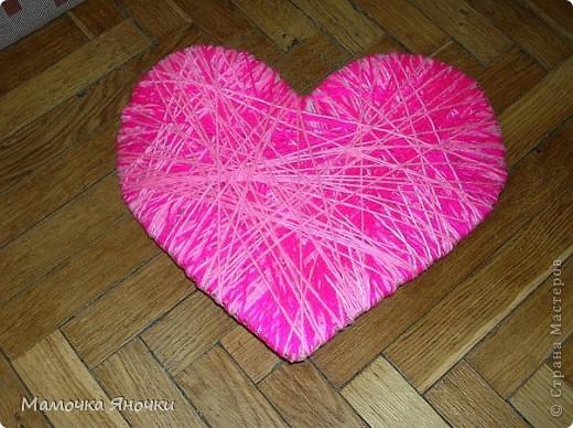 Сердечки из ниток фото 2