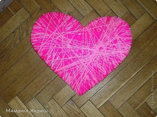 Сердечки из ниток фото 3