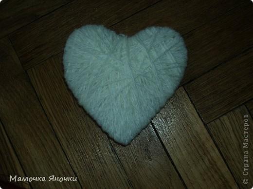 Сердечки из ниток фото 4
