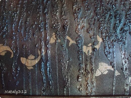 Основа - лист полистирола (утеплителя). Размеры панно 110 Х 60 Х 4 см. Использовалась шпатлевка, а не гипс. фото 6