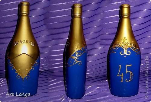 Бутылочка сделана на заказ. Это подарок мужчине на 45-летие.