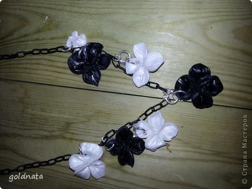 Вот такие цветы у меня получились изготовила из фимо-глина..сушила в духовке 110гр 30 минут.. фото 1
