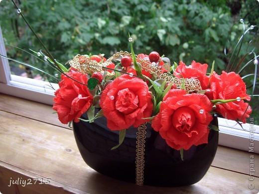 Вазочка с розами. фото 1
