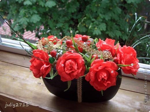 Вазочка с розами. фото 3