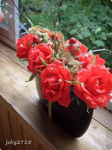Вазочка с розами. фото 2