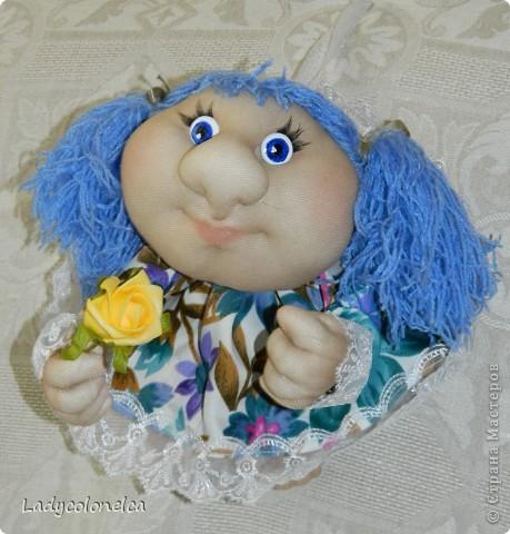 """Продолжаю тему интерьерных куколок """"На удачу!""""  Как я уже писала раньше, все куколки стараюсь делать разными. фото 4"""