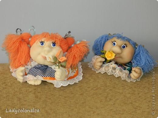 """Продолжаю тему интерьерных куколок """"На удачу!""""  Как я уже писала раньше, все куколки стараюсь делать разными. фото 1"""
