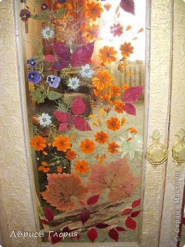 Витраж из листьев и цветов. фото 2