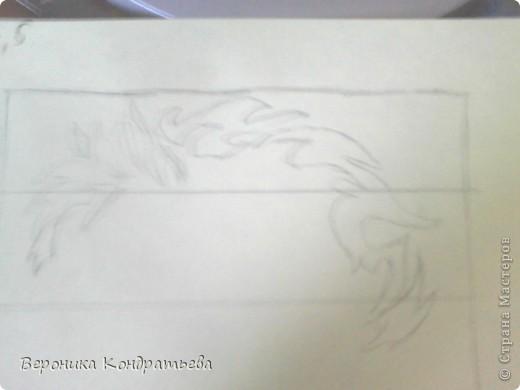 Я очень люблю волков и лошадей, а такие рисунки просто обажаю, вот решила нарисовать такую татуировку поэтапно. Приступим? Берем листок бумаги и рисуем на нем прямоугольник размером 24,5х15,5 см. Делим этот прямоугольник на горизонтальные полоски. расстояние между каждой полоской разное. 1 полоска- 3,2 см. 2 полоска- 3,6 см. 3 полоска- 3,6 см. 4 полоска- 3,3 см. 5 полоска.- 3,3 см. 6 плооска-2,7 см. 7 полоска- 4, 5 см. Нарисовали? Давайте двигаться дальше. фото 4