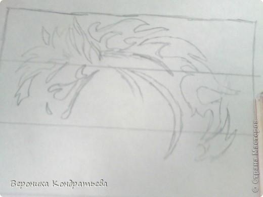 Я очень люблю волков и лошадей, а такие рисунки просто обажаю, вот решила нарисовать такую татуировку поэтапно. Приступим? Берем листок бумаги и рисуем на нем прямоугольник размером 24,5х15,5 см. Делим этот прямоугольник на горизонтальные полоски. расстояние между каждой полоской разное. 1 полоска- 3,2 см. 2 полоска- 3,6 см. 3 полоска- 3,6 см. 4 полоска- 3,3 см. 5 полоска.- 3,3 см. 6 плооска-2,7 см. 7 полоска- 4, 5 см. Нарисовали? Давайте двигаться дальше. фото 5