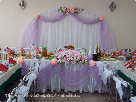 Мастер класс украшения зала для свадьбы своими руками