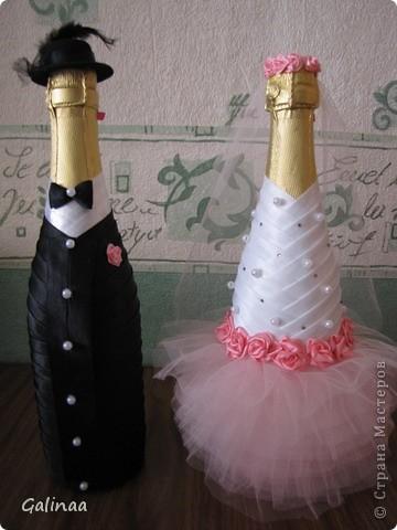 Большое спасибо Творческой мастерской Чародейка.http://stranamasterov.ru/node/373914?c=favorite.Платье  невесты сделано по её МК . фото 1