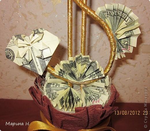 Здравствуйте! Вот ко дню рождения мужа сотворилось такое деревце. Вдохновила работа Еленче http://stranamasterov.ru/node/359059?c=favorite. Спасибо. Елена!!! У неё дерево -девочка, вот получился для дамы такой вот кавалер!!! фото 3