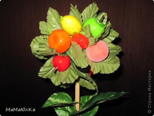 Дорогие друзья, рада приветствовать вас! Сегодня фруктовый топиарий. Сделала его в подарок маме на новоселье. Надеюсь, что он ей понравится и будет ярким акцентом на ее новой кухне.  фото 2