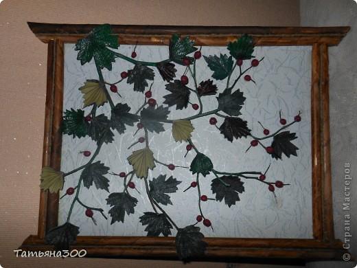 Веточки настоящие, ягоды из холодного фарфора. фото 3