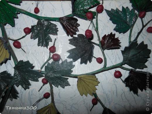 Веточки настоящие, ягоды из холодного фарфора. фото 4