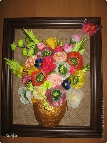 """Панно """"Букет цветов"""" фото 1"""