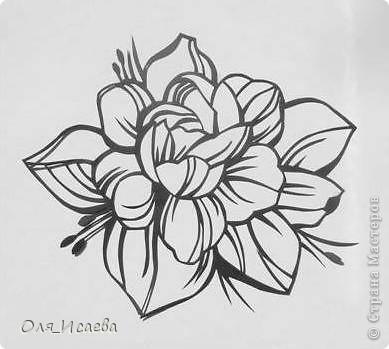 Картина панно рисунок Вырезание Цветок Бумага фото 1.