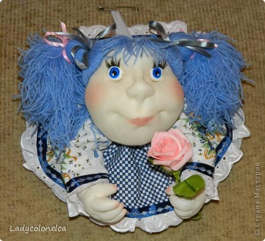 """Куколка """"На удачу.  Очень люблю этот вид интерьерной куклы. Она никого не оставляет равнодушной и вызывает море положительных эмоций. Мне интересно делать абсолютно разных по характеру и виду девочек. Эта кукляшка - милая и добрая девочка.   фото 1"""