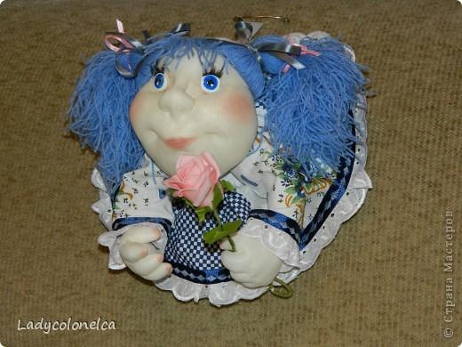 """Куколка """"На удачу.  Очень люблю этот вид интерьерной куклы. Она никого не оставляет равнодушной и вызывает море положительных эмоций. Мне интересно делать абсолютно разных по характеру и виду девочек. Эта кукляшка - милая и добрая девочка.   фото 2"""