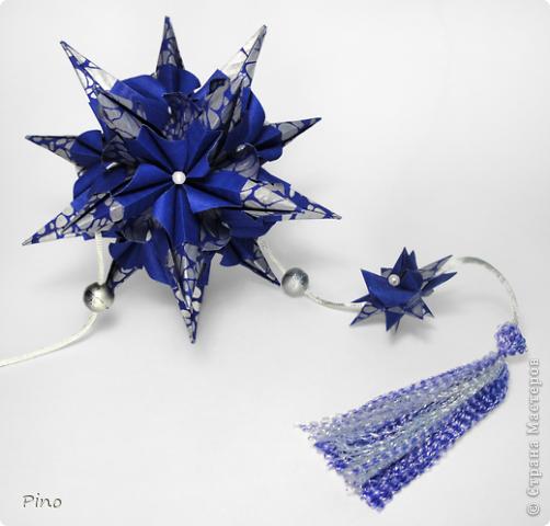 Кусудама Igel (curled variation), автор - Екатерина Лукашева схема - http://kusudama.me/#/Spikes/Igel_curled/igel3 На обвесе - Звезда Фрёбеля, МК - http://stranamasterov.ru/node/120913 фото 3