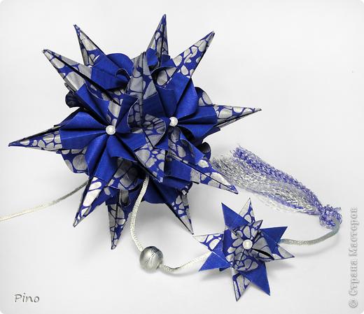 Кусудама Igel (curled variation), автор - Екатерина Лукашева схема - http://kusudama.me/#/Spikes/Igel_curled/igel3 На обвесе - Звезда Фрёбеля, МК - http://stranamasterov.ru/node/120913 фото 1