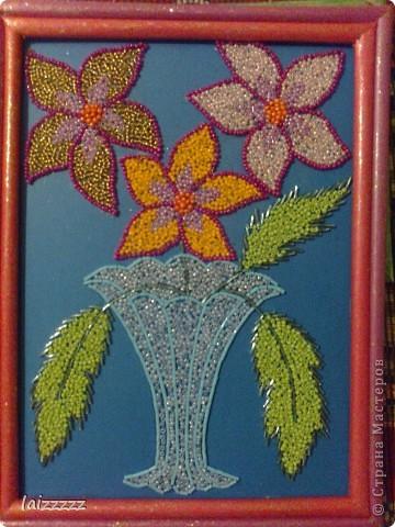 """Картина из бисера """"Цветы"""" фото 2"""