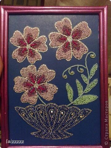 """Картина из бисера """"Цветы"""" фото 1"""