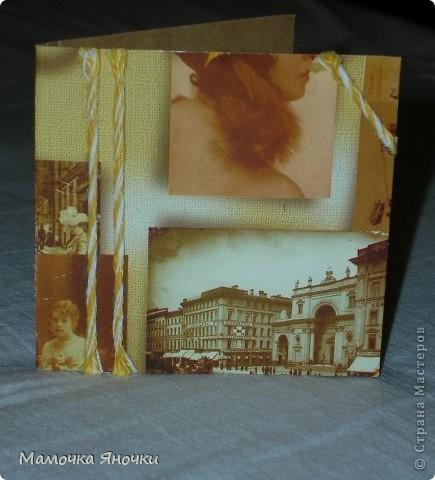 Мои открытки с тканью фото 7