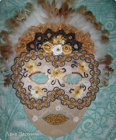 Здравствуйте, дорогие жители СМ!!! Подруга попросила меня сделать ей маску на стену к Дню рождения. Вот такая маска у меня получилась.  Конечно, объёмная маска была бы лучше, но я совершенно не дружу с папье-маше.  Хочется услышать ваше мнение о маске.  фото 7