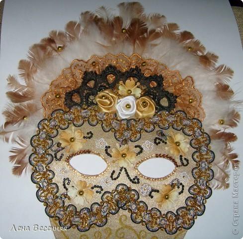 Здравствуйте, дорогие жители СМ!!! Подруга попросила меня сделать ей маску на стену к Дню рождения. Вот такая маска у меня получилась.  Конечно, объёмная маска была бы лучше, но я совершенно не дружу с папье-маше.  Хочется услышать ваше мнение о маске.  фото 2