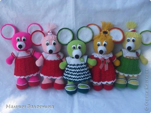 Игрушка Вязание крючком Мышь