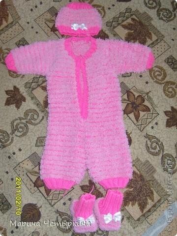 Комбенизон на девочку 1-2 месяца