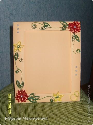 Открытка и рамка свадебные, сундук для денег и свадебные пригласительные фото 2