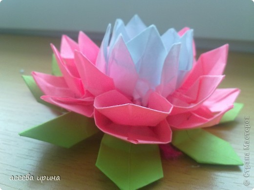 Цветы лотосы из бумаги своими руками