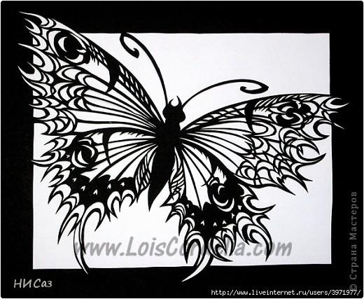 Картина панно рисунок Вырезание Бабочка Бумага фото 5.